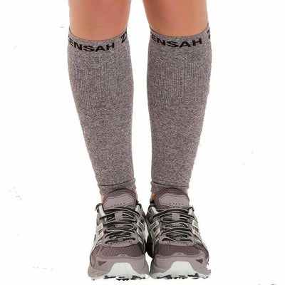 Zensah Compression Leg Sleeves - X-Small/Small / Heather Gray