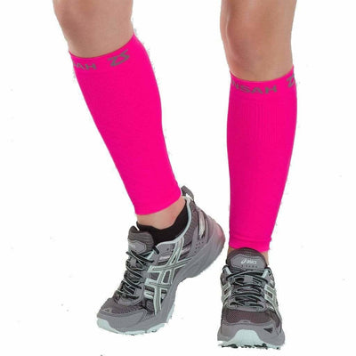 Zensah Compression Leg Sleeves - X-Small/Small / Neon Pink