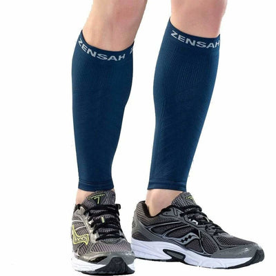 Zensah Compression Leg Sleeves X-Small/Small / Navy
