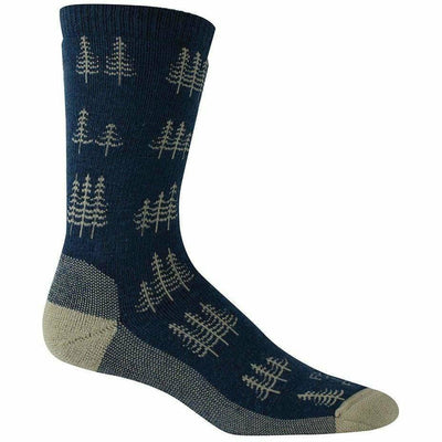 Farm to Feet Mens Cokeville Midweight Trees Crew Socks - Medium / Denim Blue