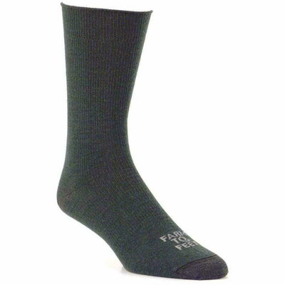 Farm to Feet Arlington Ultralight Crew Socks Large / Green Gables