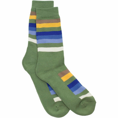 Pendleton National Park Striped Crew Socks Medium / Rocky Mountain / Single Pair