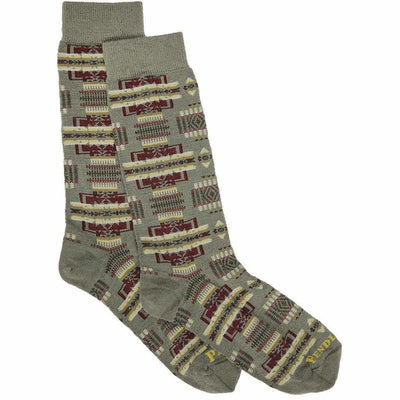 Pendleton Chief Joseph Crew Socks Medium / Sage