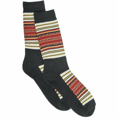 Pendleton National Park Striped Crew Socks Medium / Acadia / Single Pair