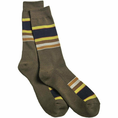 Pendleton National Park Striped Crew Socks Medium / Badlands / Single Pair