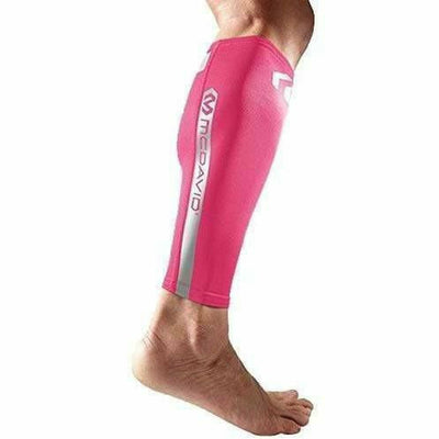McDavid Reflective Compression Calf Sleeve Small / Bright Pink