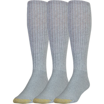 Gold Toe Ultra Tec Athletic Cotton OTC Socks Regular / Grey Heather