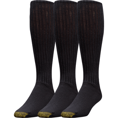 Gold Toe Ultra Tec Athletic Cotton OTC Socks Regular / Black