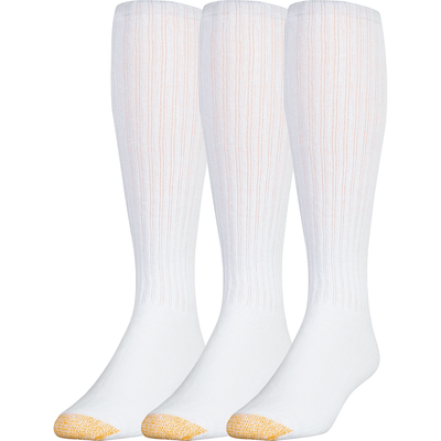 Gold Toe Ultra Tec Athletic Cotton OTC Socks Regular / White