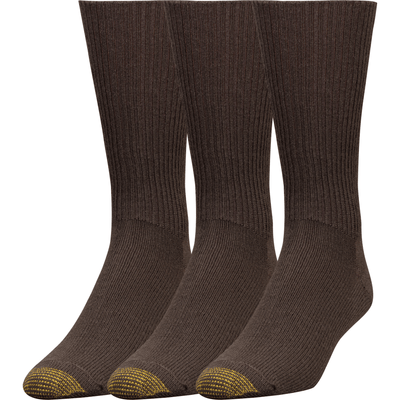 Gold Toe Fluffies Casual Socks - Extended / Brown