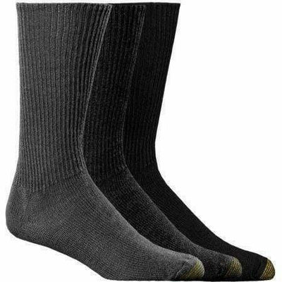 Gold Toe Fluffies Casual Socks Regular / Heather Gray/Charcoal/Black