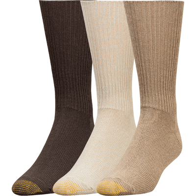 Gold Toe Fluffies Casual Socks - Regular / Tan/Taupe/Brown