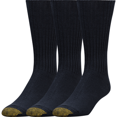 Gold Toe Cotton Fluffies Casual Socks Extended / Navy