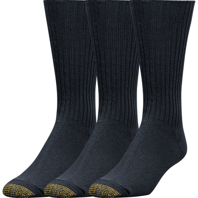 Gold Toe Cotton Fluffies Casual Socks Extended / Black