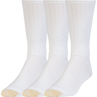 Gold Toe Cotton Fluffies Casual Socks Regular / White