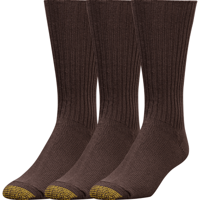 Gold Toe Cotton Fluffies Casual Socks Extended / Brown