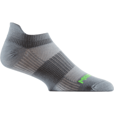 Wrightsock Double-Layer Coolmesh II Lightweight Tab Socks Small / Steel Grey/Green / Single Pair