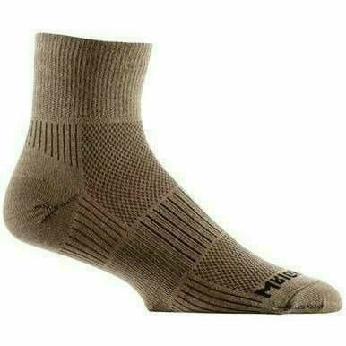 Wrightsock Double-Layer Coolmesh II Lightweight Quarter Socks Small / Khaki / Single Pair
