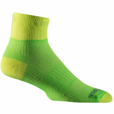 Wrightsock Double-Layer Coolmesh II Lightweight Quarter Socks Small / Lemon/Lime / Single Pair