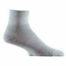 Wrightsock Double-Layer Coolmesh II Lightweight Quarter Socks Small / Light Grey / Single Pair