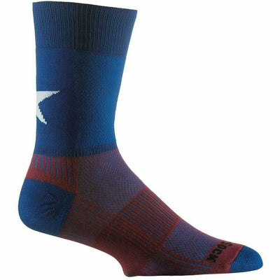 Wrightsock Double-Layer Coolmesh II Lightweight Crew Socks - Medium / Patriot / Single Pair