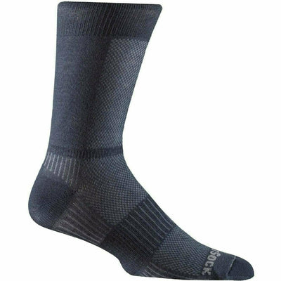Wrightsock Double-Layer Coolmesh II Lightweight Crew Socks - Small / Oxford Blue / Single Pair