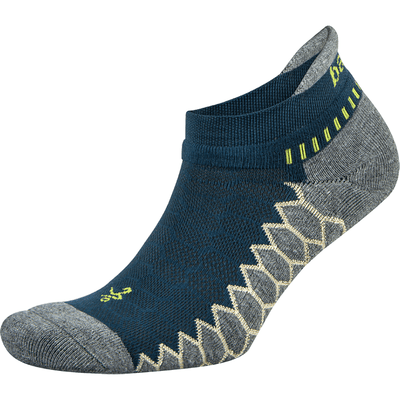 Balega Silver No Show Socks - Small / Legion Blue/Gray