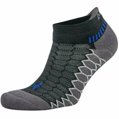 Balega Silver No Show Socks - Small / Black/Carbon
