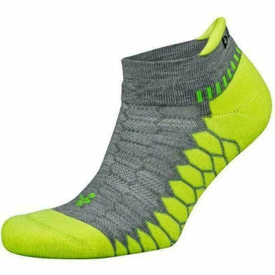 Balega Silver No Show Socks Small / Mid Grey/Neon Lime