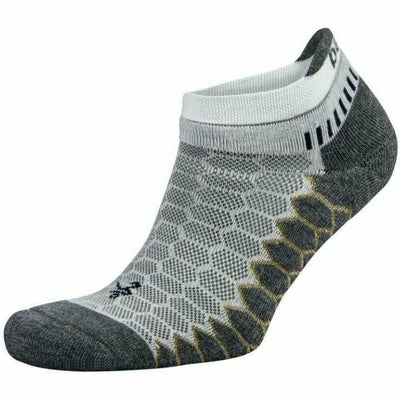 Balega Silver No Show Socks - Small / White/Gray