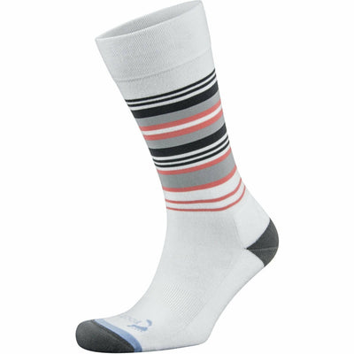 Foot Zen by Balega Womens Fashion Stripes Crew Socks Small / White
