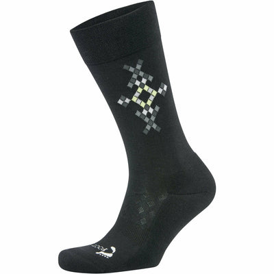 Foot Zen by Balega Mens Fashion Argyle Crew Socks Medium / Black