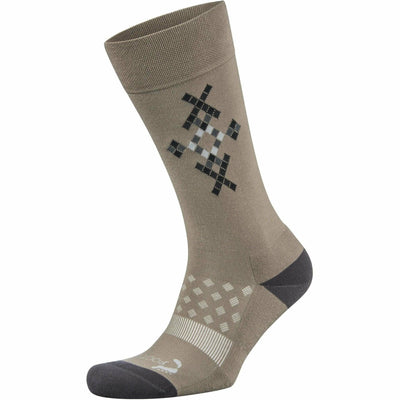 Foot Zen by Balega Mens Fashion Argyle Crew Socks - Medium / Mink