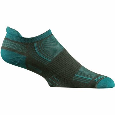 Wrightsock Stride Tab Socks - Small / Ash/Turquoise