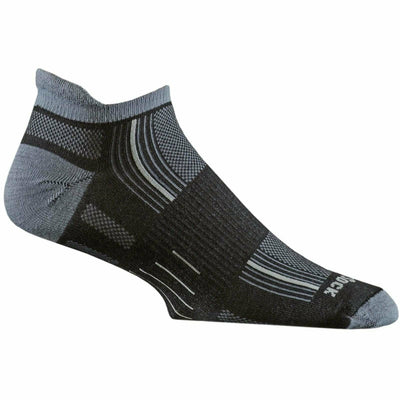 Wrightsock Stride Tab Socks Small / Black/Grey