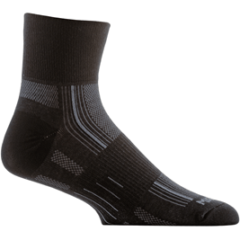 Wrightsock Stride Quarter Socks Small / Black