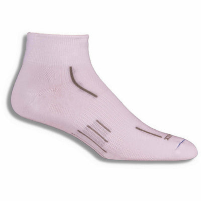 Wrightsock Stride Quarter Socks Small / White