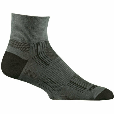 Wrightsock Stride Quarter Socks Small / Grey