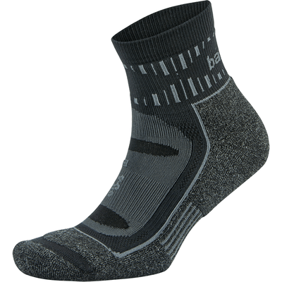 Balega Blister Resist Quarter Crew Socks - Small / Gray/Black