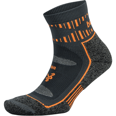 Balega Blister Resist Quarter Crew Socks - Medium / Gray/Orange