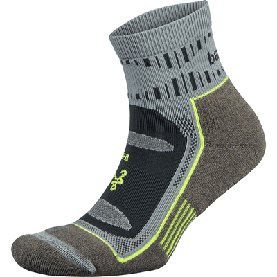 Balega Blister Resist Quarter Crew Socks - Small / Mink/Gray