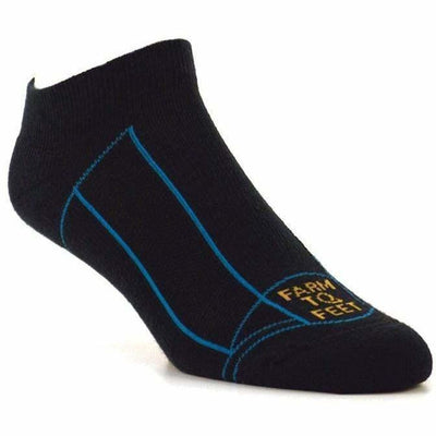 Farm to Feet Adventure Sport Lightweight Greensboro Low Socks Medium / Eclipse