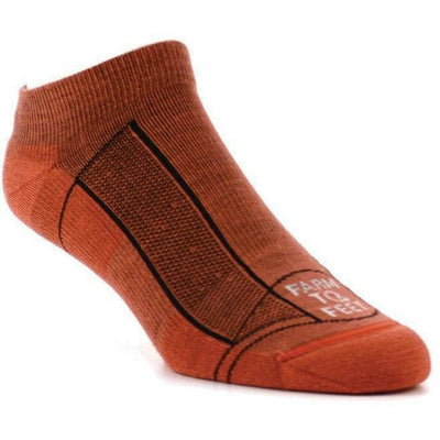 Farm to Feet Adventure Sport Lightweight Greensboro Low Socks Small / Carnation