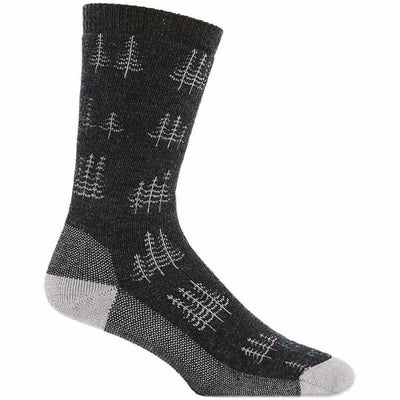 Farm to Feet Mens Cokeville Midweight Trees Crew Socks - Medium / Charcoal/Platinum
