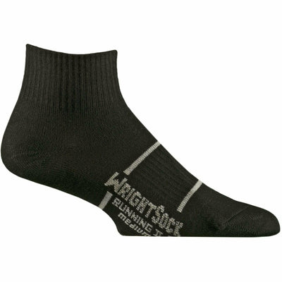 Wrightsock Running II Quarter Socks - Small / Black / Single Pair
