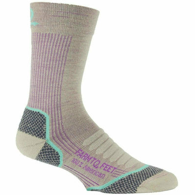 Farm to Feet Womens Damascus Lightweight Elite Hiker Socks - Small / Tan