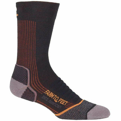 Farm to Feet Mens Damascus Lightweight Elite Hiker Socks - Medium / Green Gables