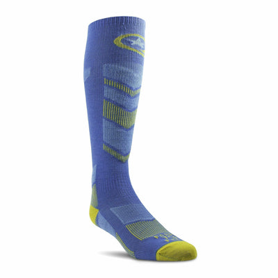 Farm to Feet Mens Waitsfield Lightweight Ski OTC Socks - Large / Bunting