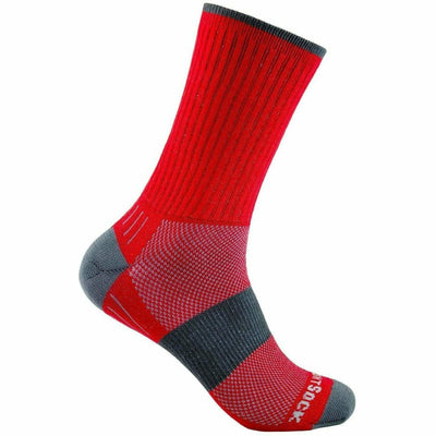 Wrightsock Escape Midweight Crew Socks - Small / Red
