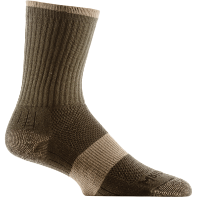 Wrightsock Escape Midweight Crew Socks - Small / Green/Khaki
